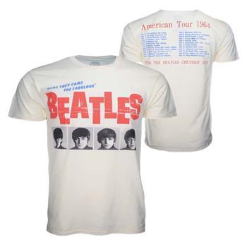 Beatles Beatles American Tour 64 Cream T-Shirt