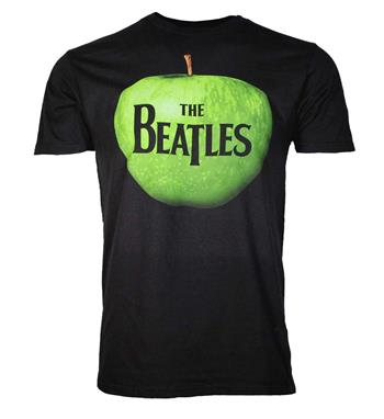Beatles Beatles Apple Logo Black T-Shirt