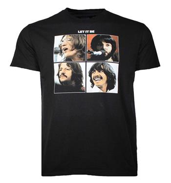 Beatles Beatles Let It Be Black T-Shirt