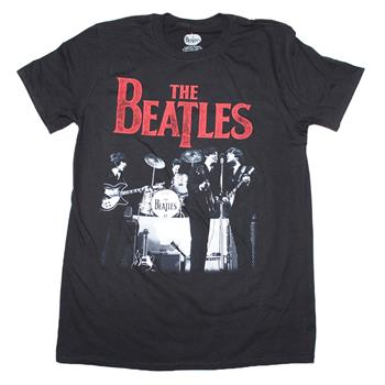 Buy Beatles Stage Photo Logo T-Shirt by Beatles
