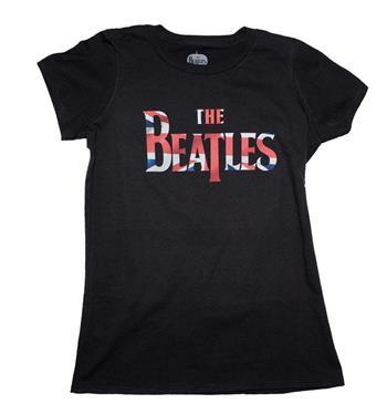 Buy Beatles Union Jack Classic Logo Juniors T-Shirt by Beatles
