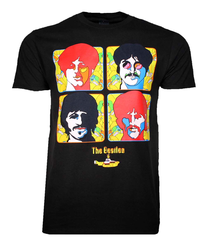 Beatles Yellow Sub 4 Portraits T-Shirt