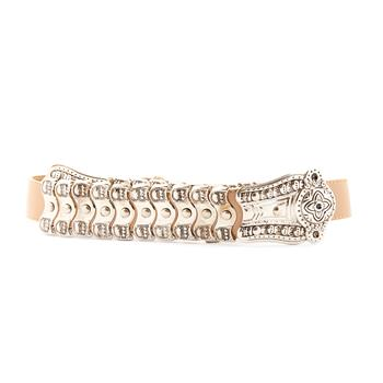 Buy Beige Flower by LEATHER BELT