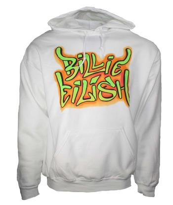 Buy Billie Eilish Grafitti Hoodie Sweatshirt by Billie Eilish