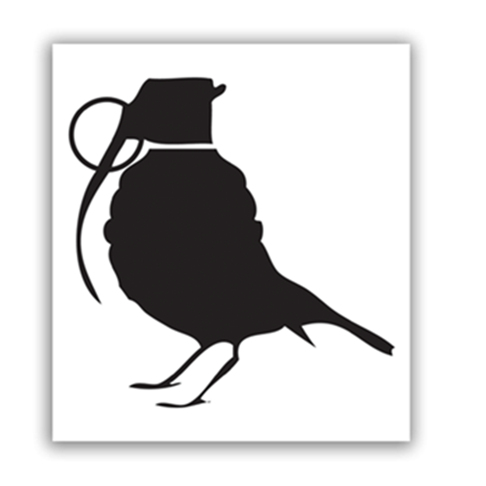 BIRD GRANADE STICKER
