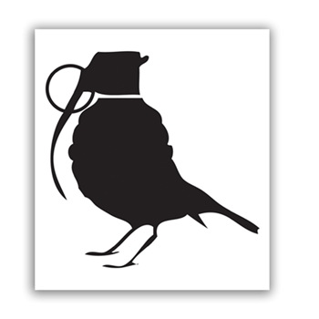 Buy Bird Grenade Sticker by Generic