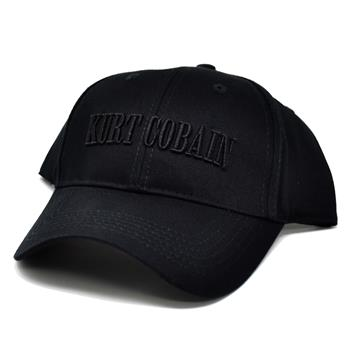 Kurt Cobain Black Logo Hat