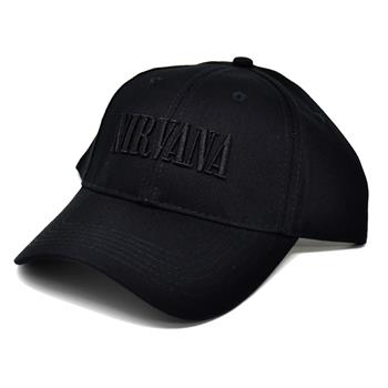 Nirvana Black Logo Hat