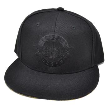 Buy Black Logo Snapback Hat by Guns 'n' Roses