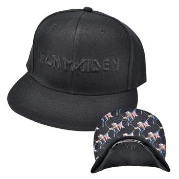 Buy Black Logo Snapback Hat by Iron Maiden