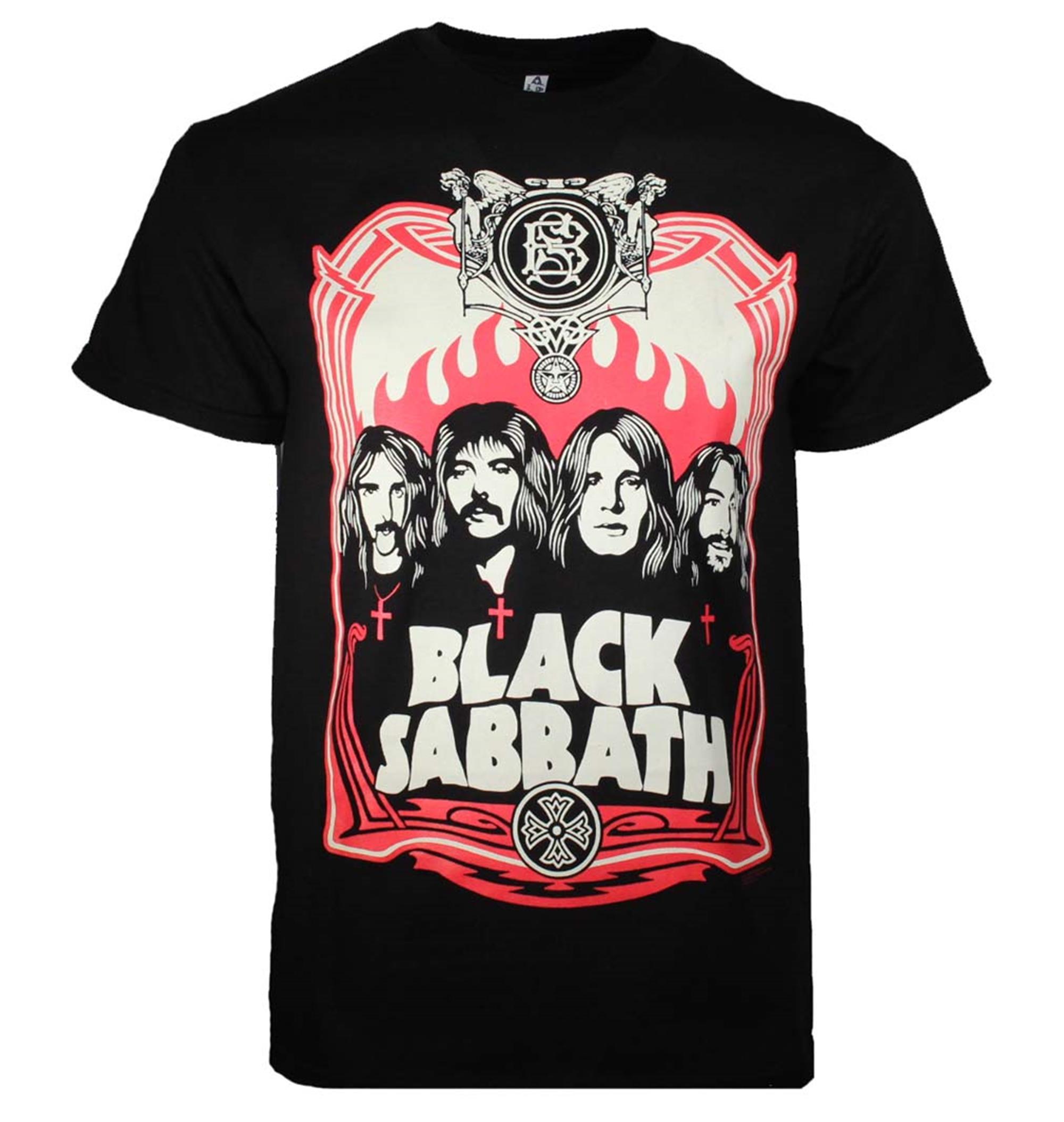 Black Sabbath Red Flames T-Shirt