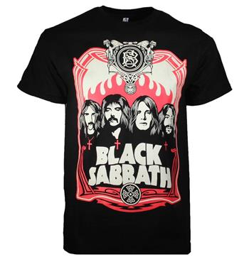 Black Sabbath Black Sabbath Red Flames T-Shirt