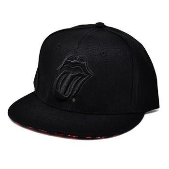 Rolling Stones Black Tongue Snapback Hat