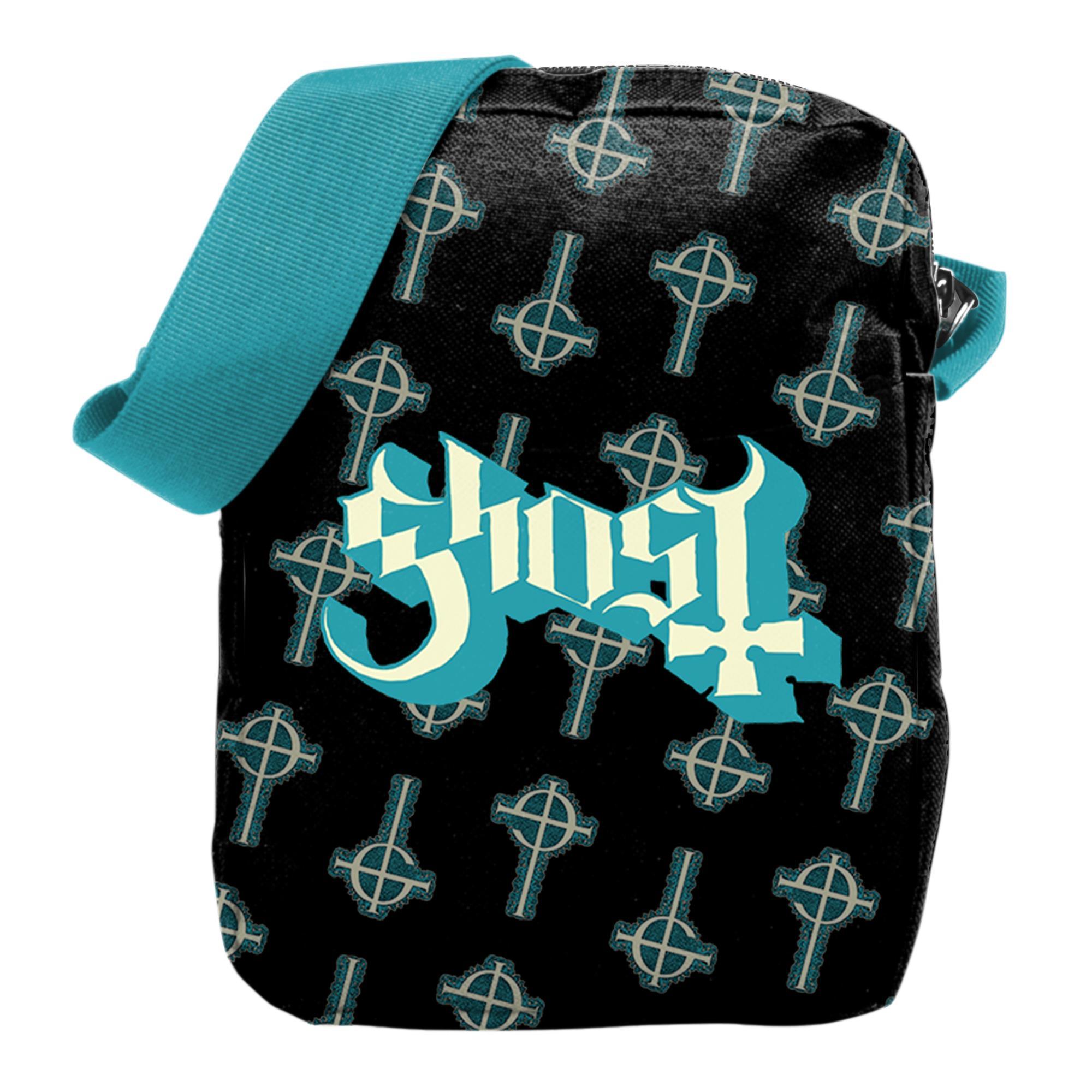 Blue Crucifix Crossbody Bag