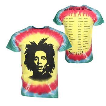 Bob Marley Bob Marley Catch A Fire Tie Dye T-Shirt
