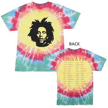 Buy Bob Marley Catch A Fire Tie Dye T-Shirt by BOB MARLEY