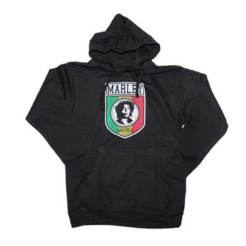 Buy Bob Marley Kingston Shield Pullover Hoodie Sweatshirt by BOB MARLEY