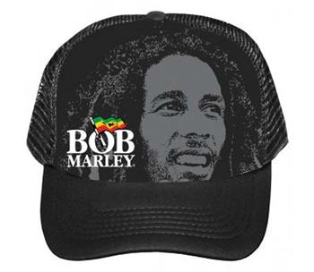 Buy Bob Marley Portrait Logo Trucker Hat by BOB MARLEY