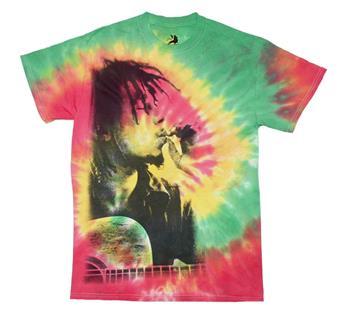 Buy Bob Marley Rasta Smoke Tie Dye T-Shirt by BOB MARLEY