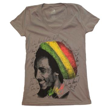 Bob Marley Bob Marley Rasta Tam V-Neck Junior's Tee