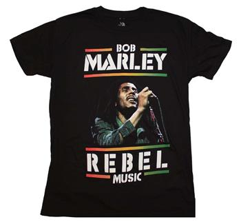 Buy Bob Marley Rebel Music T-Shirt by Bob Marley