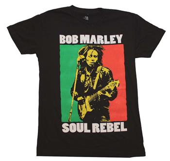 Buy Bob Marley Soul Rebel Color Block T-Shirt by BOB MARLEY