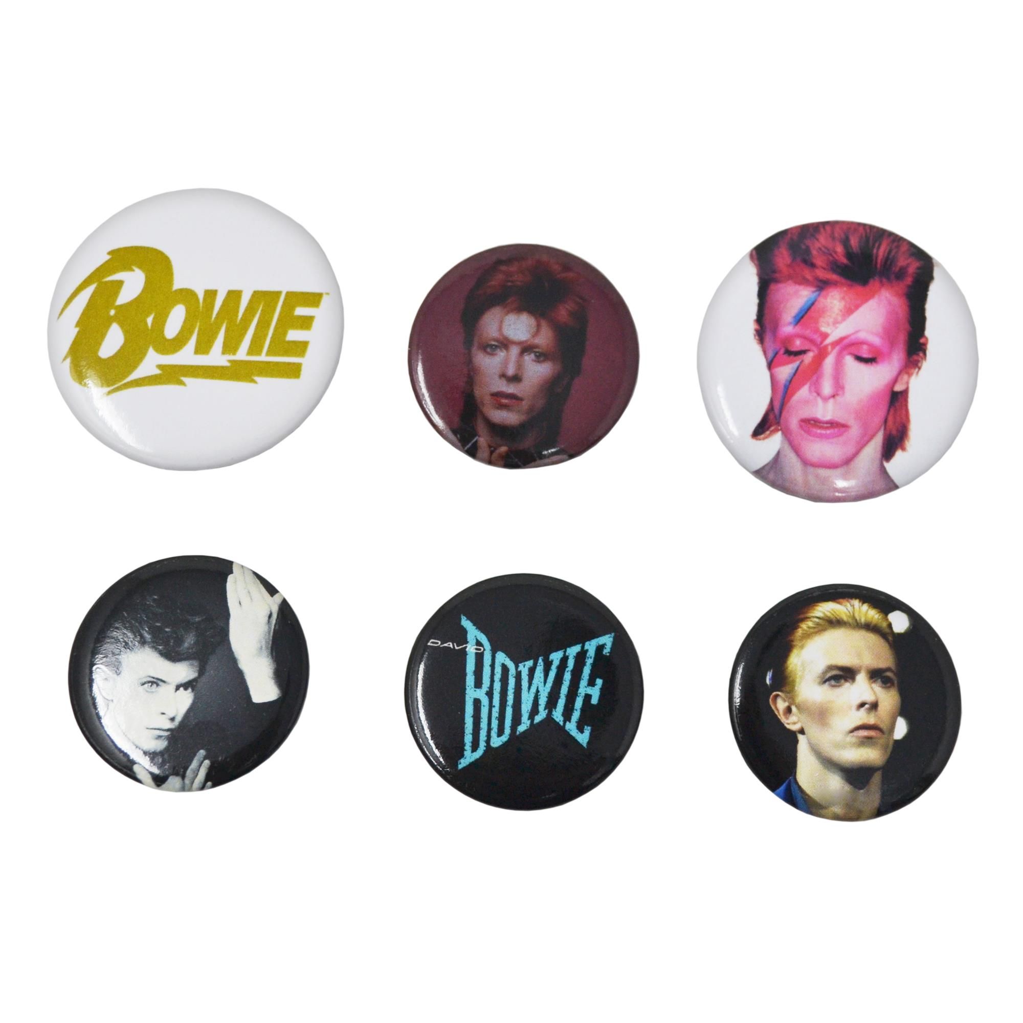 BOWIE - Button Badges - 6 pcs