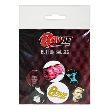 David Bowie BOWIE - Button Badges - 6 pcs