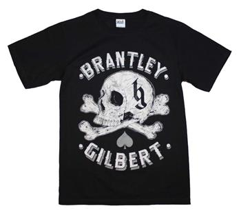 Buy Brantley Gilbert Skull T-Shirt by Brantley Gilbert