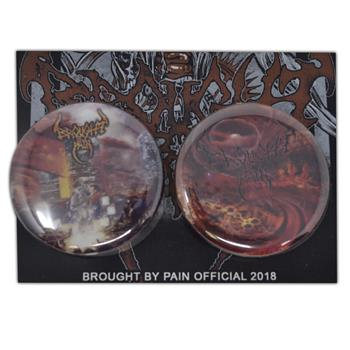 Brought By Pain Crafted By Society Button Pin Set