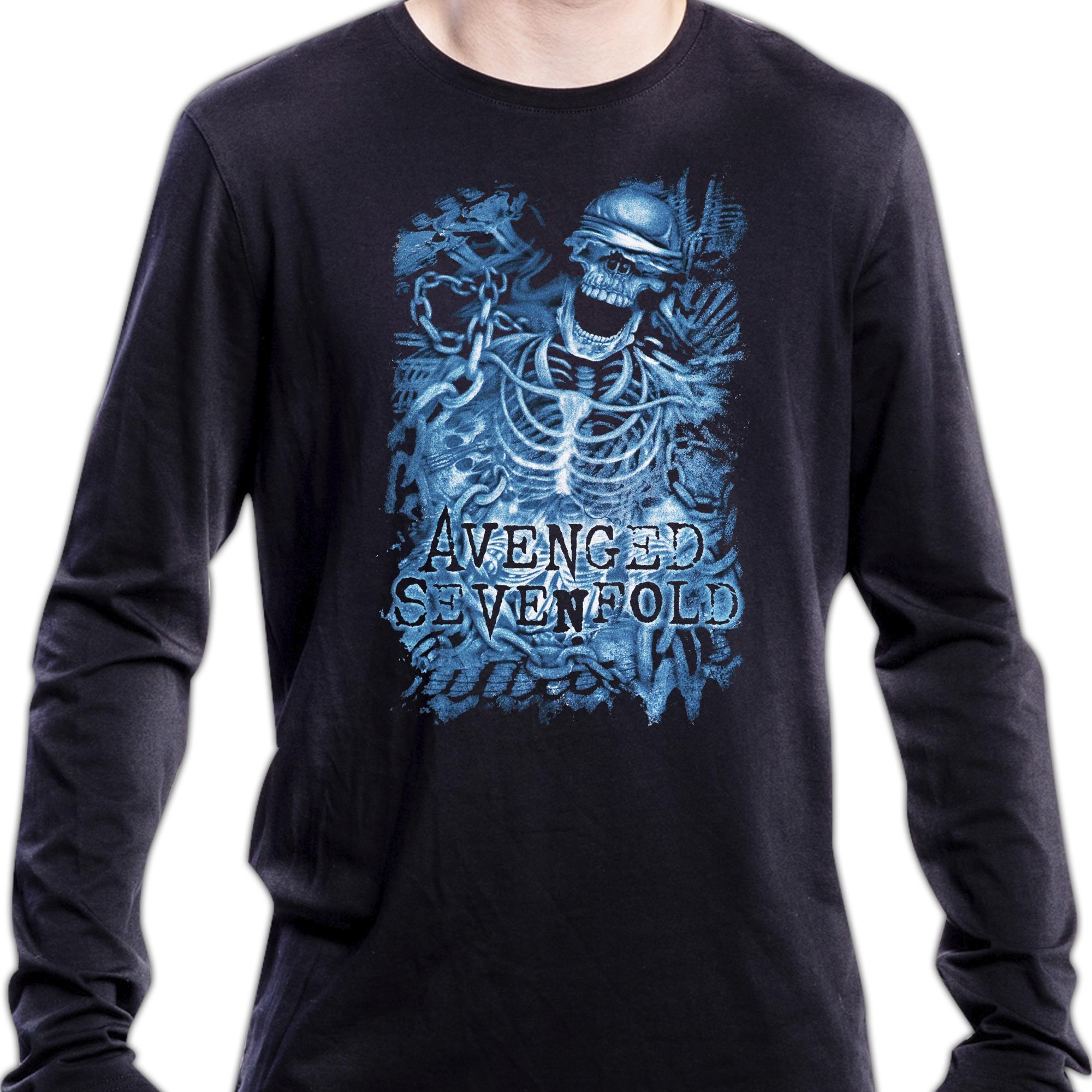 Chained Skeleton Longsleeve shirt (Import)