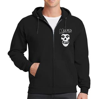 Misfits Classic Skull Zip Hoodie (big skull print on back)