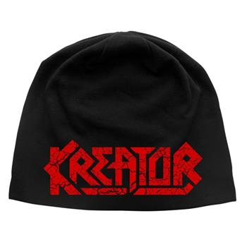 Buy Cracked Logo Discharge Beanie by Kreator