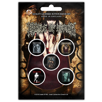 Cradle Of Filth Albums Button Pin Set