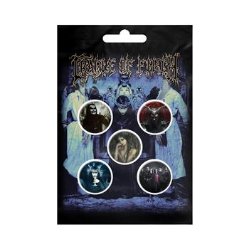 Cradle Of Filth Cryptoriana Button Pin Set