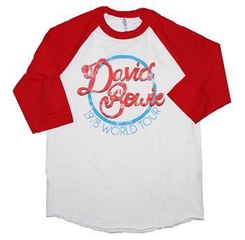 Buy David Bowie 1978 World Tour Raglan Sleeve T-Shirt by David Bowie