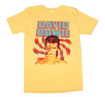 Buy David Bowie Aladdin Sane Gold T-Shirt by David Bowie