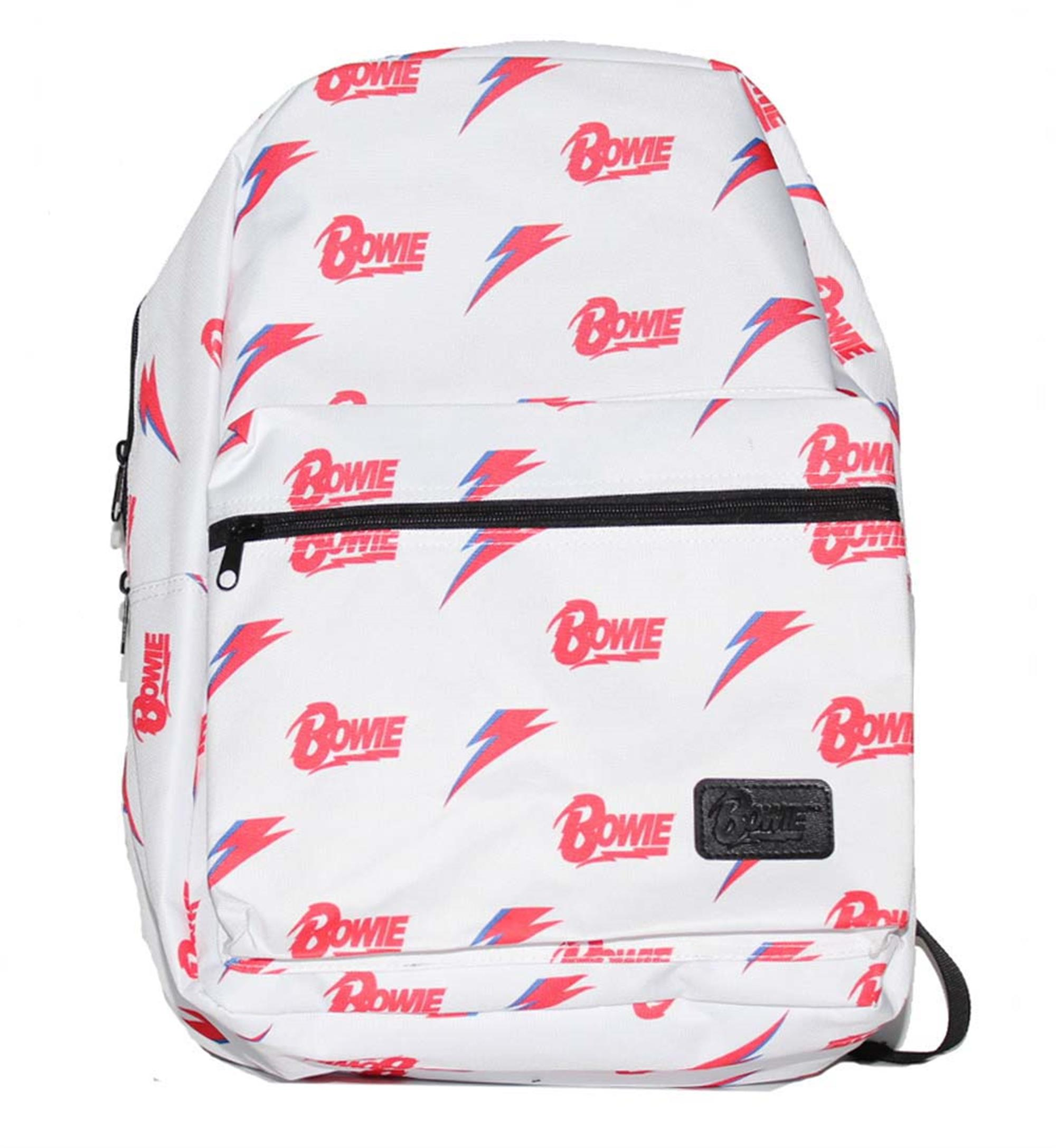 David Bowie All Over Print White Backpack