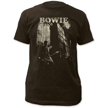 David Bowie David Bowie Guitar Fitted Jersey T-Shirt