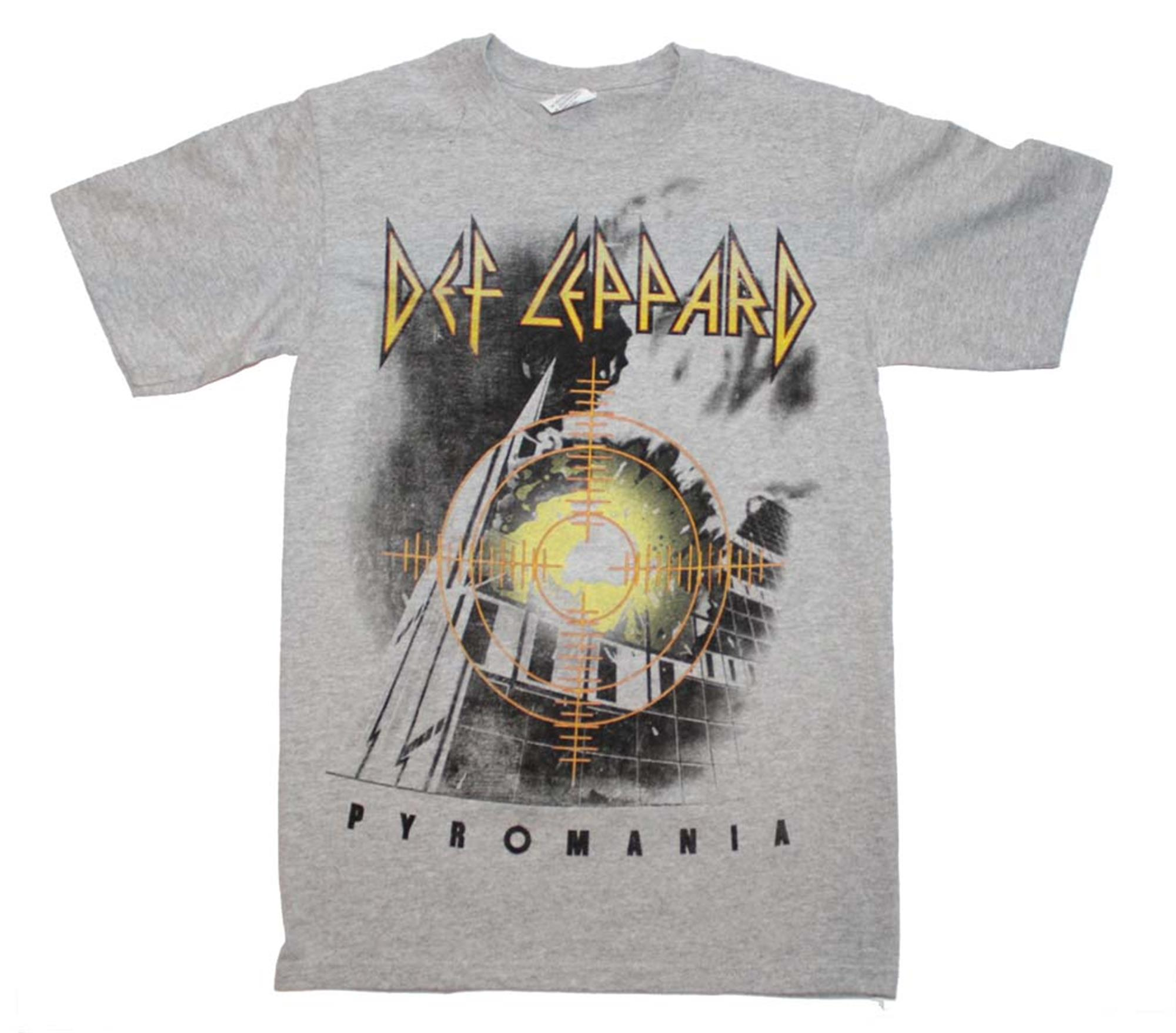 Def Leppard Target Pyromania Heather Gray T-Shirt