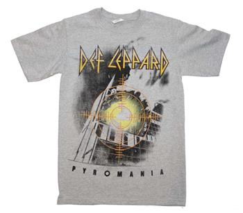 Def Lepaprd Def Leppard Target Pyromania Heather Gray T-Shirt