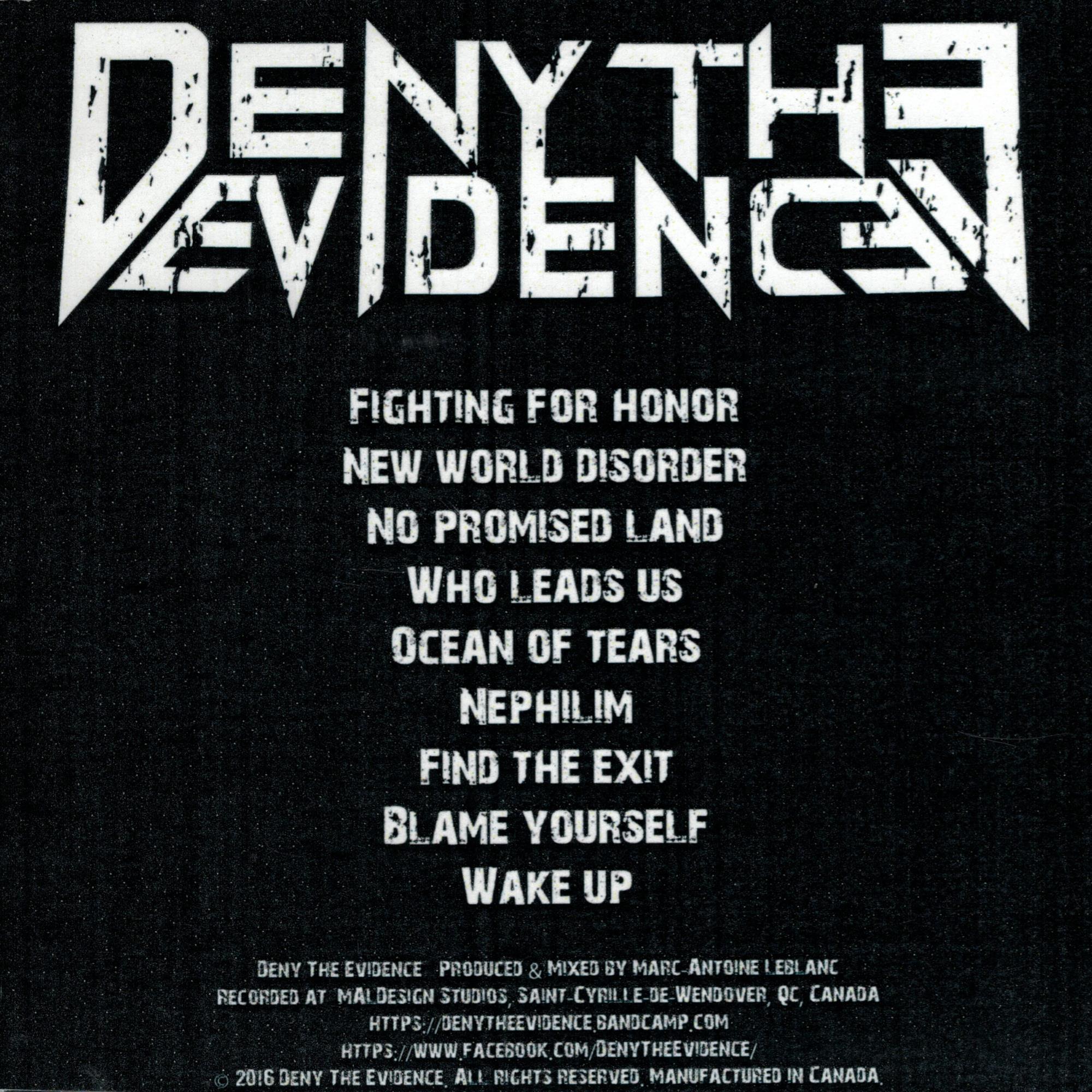 Deny The Evidence CD