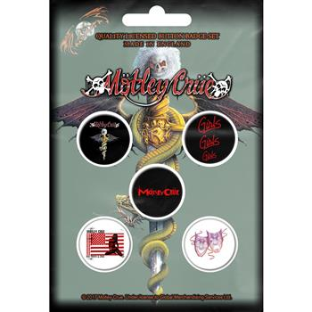 Buy Dr. Feelgood Button Pin Set by Motley Crue