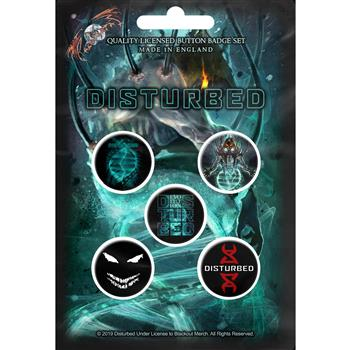 Disturbed Evolution Button Pin Set