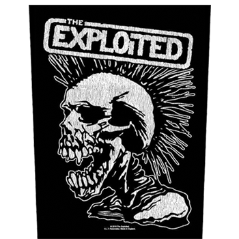 Exploited (the) Vintage Skull Backpatch