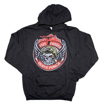 Buy Five Finger Death Punch Bomber Patch Hoodie Sweatshirt by Five Finger Death Punch