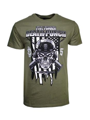 Buy Five Finger Death Punch Infantry Special Forces T-Shirt by Five Finger Death Punch