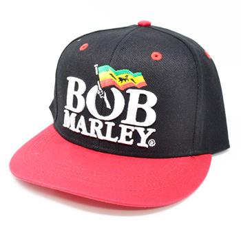 Bob Marley Flag Logo Snapback Hat