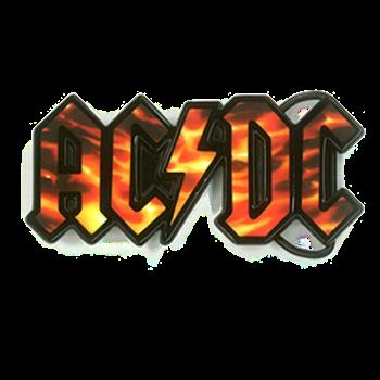 AC/DC Flame Logo Buckle