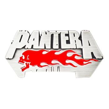 Pantera Flaming Skull Buckle